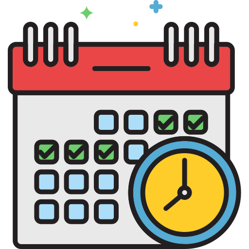 schedule time زمان icon