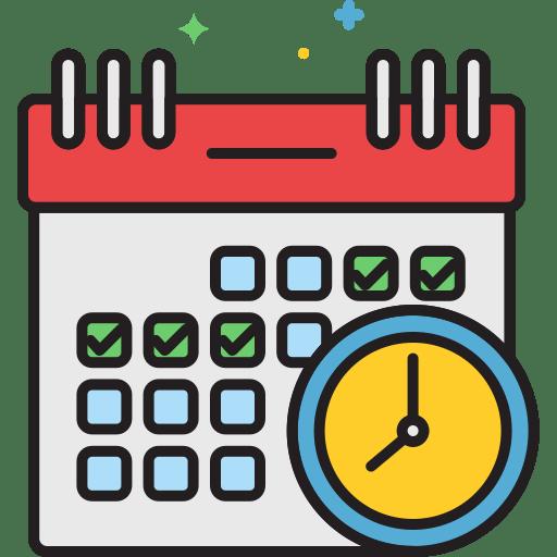 schedule time زمان icon