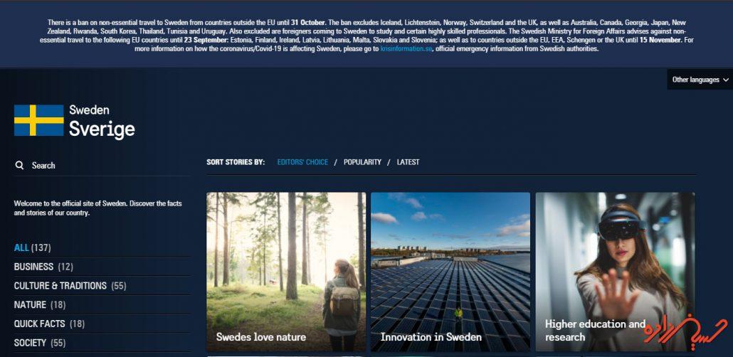 سایت معروف وردپرسی کشور سوئد