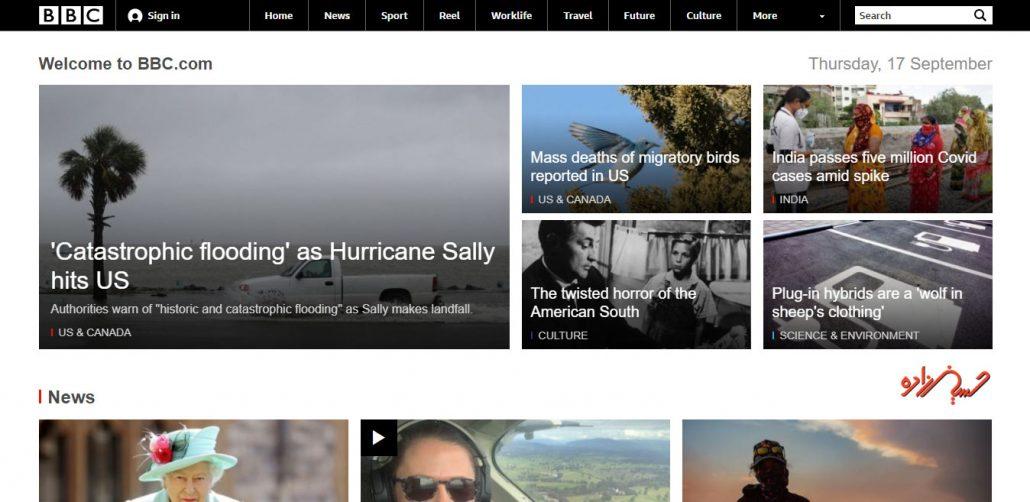 سایت معروف وردپرسی بی بی سی آمریکا